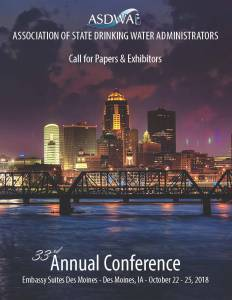 ASDWA's 2018 Annual Conference Call for Papers and Exhibitors