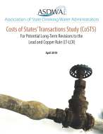 ASDWA Releases Costs of States' Transactions Study (CoSTS) for the Lead and Copper Rule