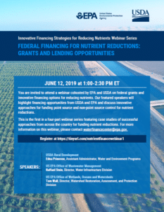 EPA-USDA Webinar on Federal Financing for Nutrient Reductions: Grants and Lending Opportunities