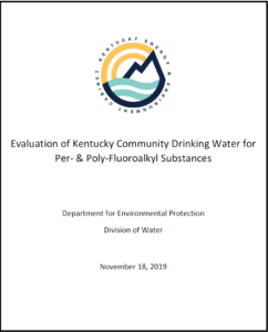 Kentucky Publishes Report of Findings from PFAS Drinking Water Sampling Study