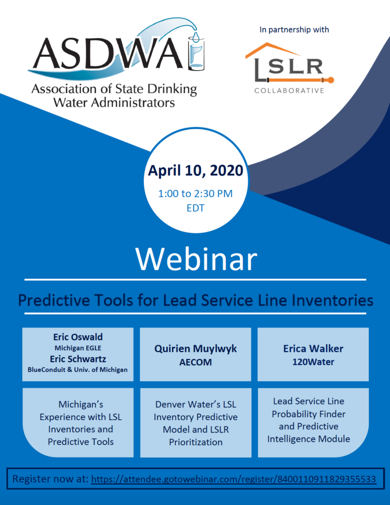 Register Now for Webinar on Predictive Tools for Lead Service Line Inventories