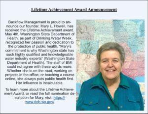 Mary Howell Lifetime Achievement Award