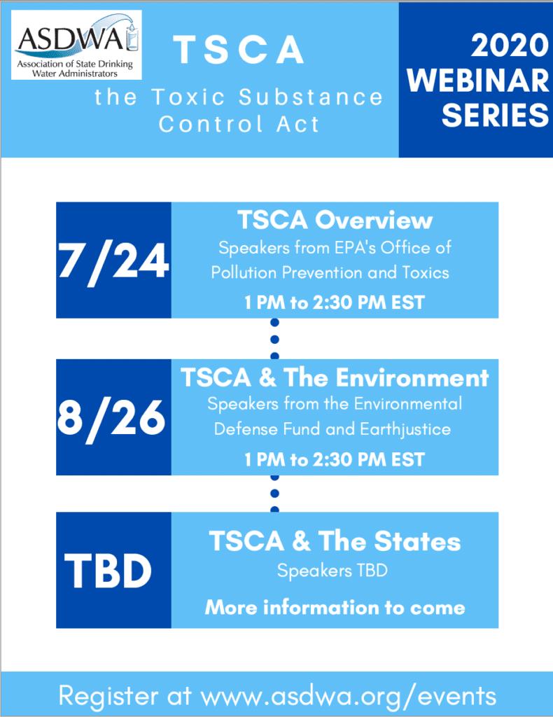 ASDWA Announces New Webinar Series on TSCA