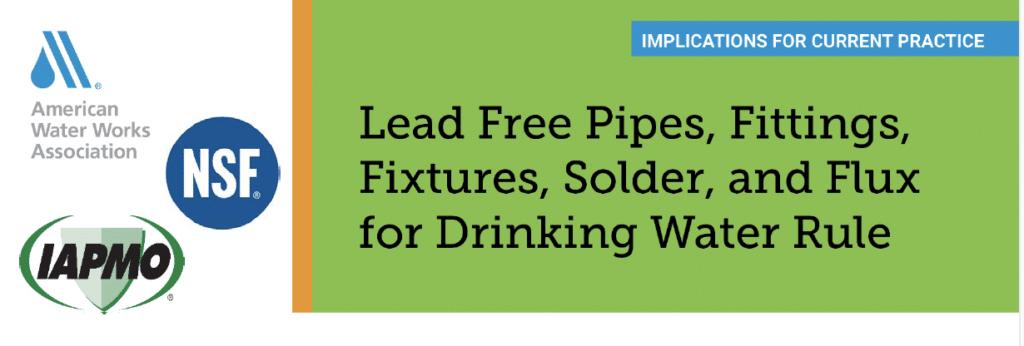 AWWA Releases Factsheet on Lead Free Rule