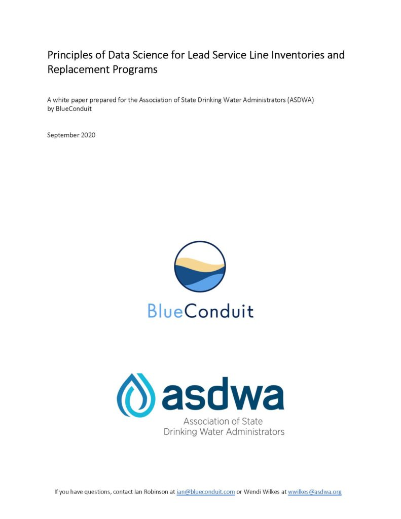 ASDWA & BlueConduit Release White Paper on LSL Data Methods