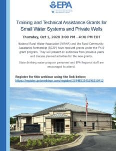 EPA Webinar on Small System Grants for Training and Technical Assistance