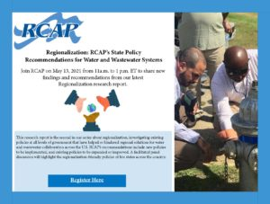 RCAP Regionalization Webinar on State Policy Recommendations for Water and Wastewater Systems
