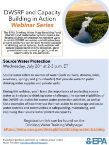 EPA Webinar on Using DWSRF Set-asides for Source Water Protection