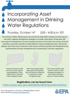 EPA Webinar on Incorporating Asset Management in Drinking Water Regulations